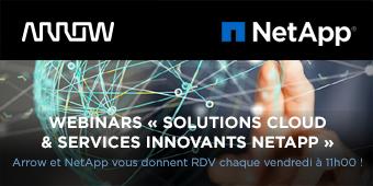 Arrow et NetApp vous donnent RDV chaque vendredi à 11h00 !